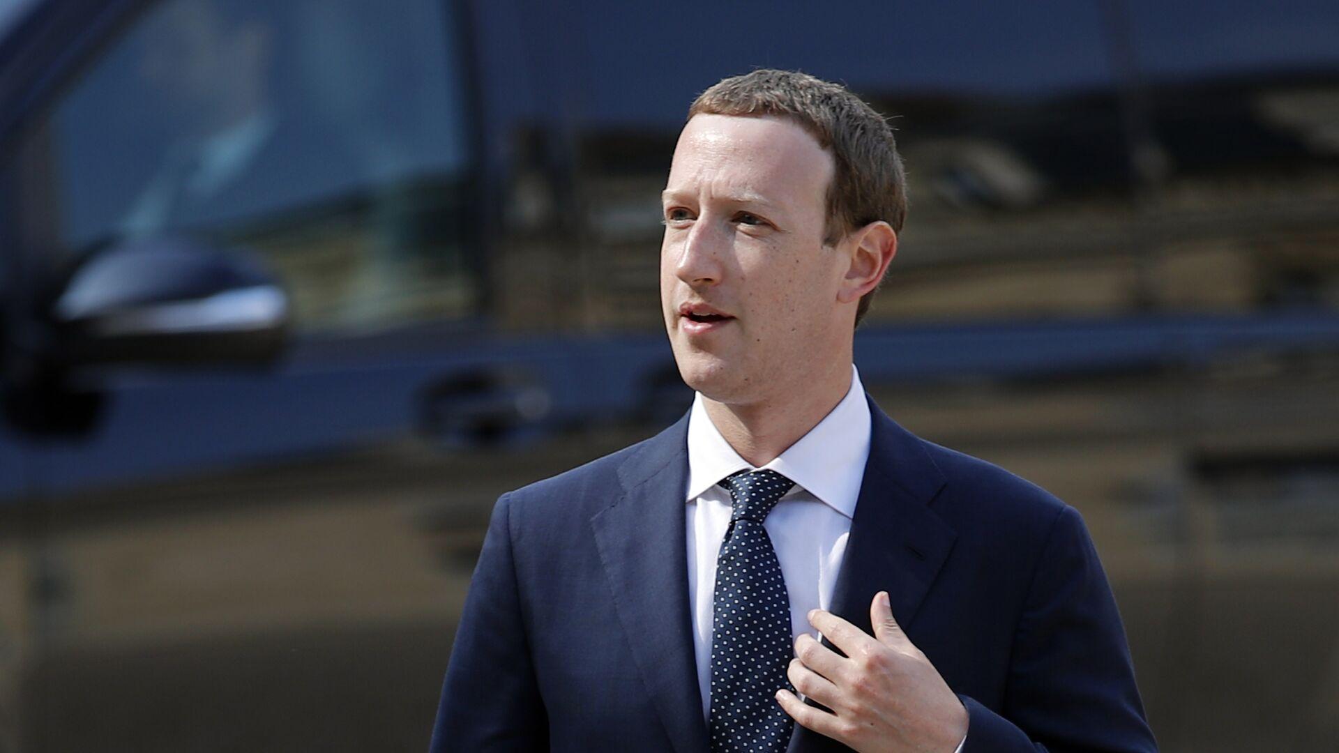 CEO di Facebook Mark Zuckerberg - Sputnik Italia, 1920, 04.04.2021