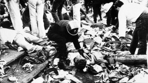 La strage dell'Heysel, tragedia avvenuta il 29 maggio 1985 allo stadio Heysel di Bruxelles - Sputnik Italia