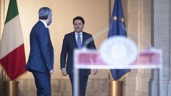 Il Presidente del Consiglio, Giuseppe Conte, ha tenuto una conferenza stampa a Palazzo Chigi - Sputnik Italia