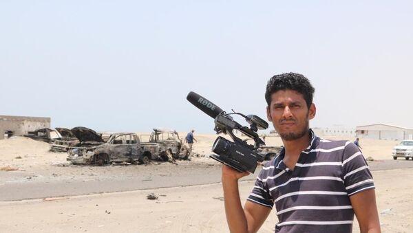 Il corrispondente dell'agenzia Ruptly Nabil Hasan al-Quaety nello Yemen - Sputnik Italia
