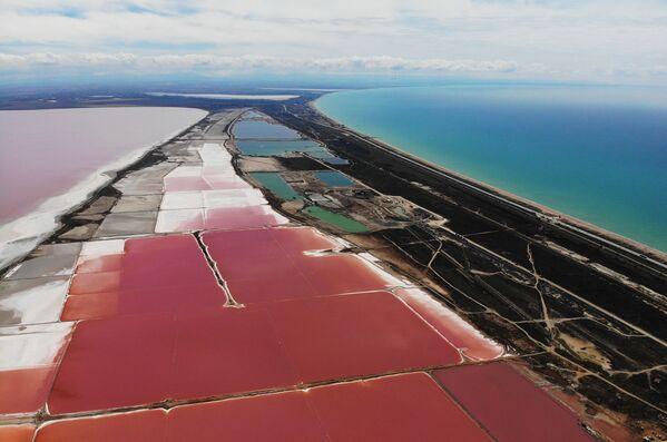 Delle saline sul lago Sasyk-Sivash in Crimea, Russia. - Sputnik Italia