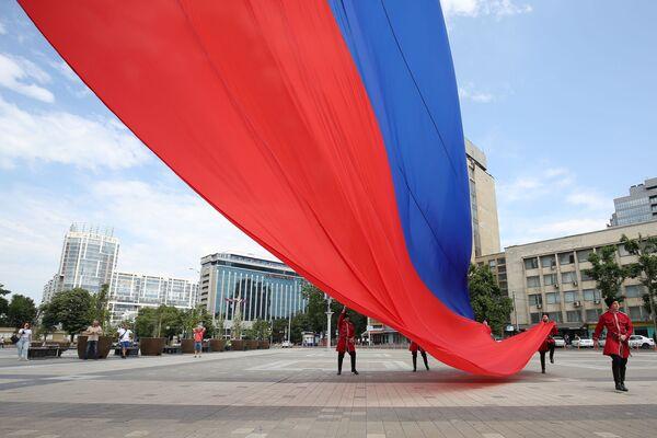 Celebrazione del Giorno della Russia nella piazza principale di Krasnodar, Russia - Sputnik Italia