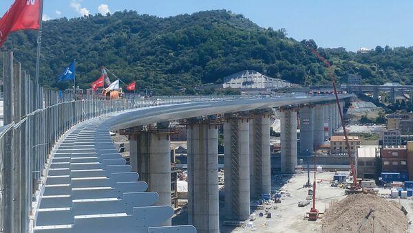 Costruzione del nuovo ponte di Genova - Sputnik Italia