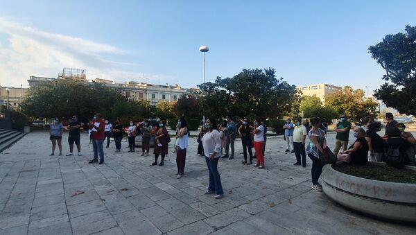Scuola, manifestazione in 60 piazze d'Italia, Messina 25 giugno 2020 - Sputnik Italia