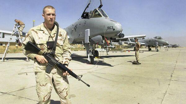 Truppe USA in base aerea a Kabul, Afghanistan - Sputnik Italia