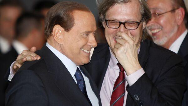 Silvio Berlusconi e Vittorio Sgarbi - Sputnik Italia