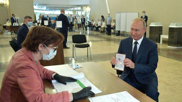 Il voto del presidente Vladimir Putin - Sputnik Italia