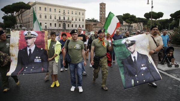 Manifestazioni per i marò - Sputnik Italia