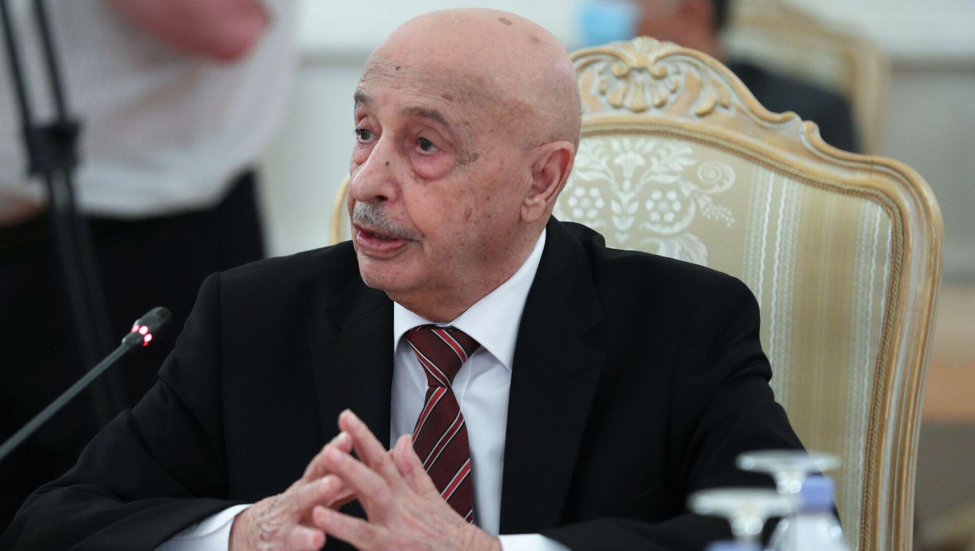 Il presidente della Camera dei rappresentanti della Libia orientale, Aquila Saleh - Sputnik Italia, 1920, 08.02.2021