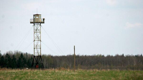 Российская сторожевая башня на границе между Россией и Латвией - Sputnik Italia
