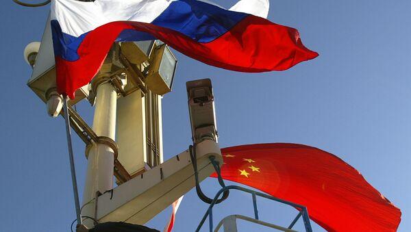 Le bandiere della Russia e della Cina - Sputnik Italia