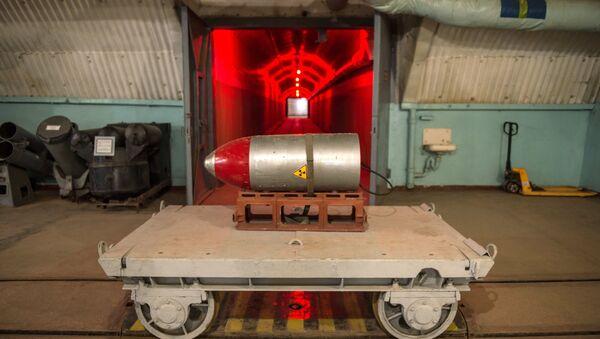 Una testata nucleare nel museo della Marina militare a Balaklava, Crimea. - Sputnik Italia