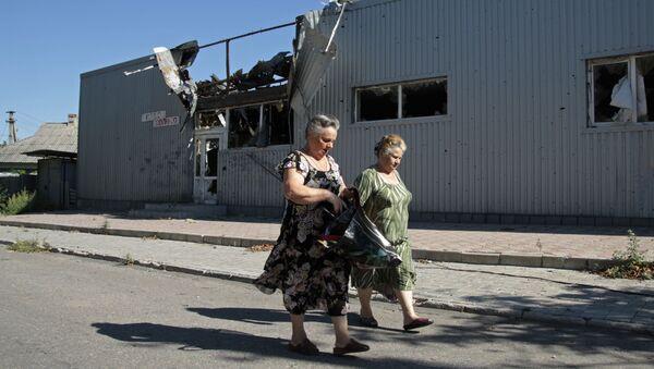 Danni bombardamenti a Donetsk - Sputnik Italia