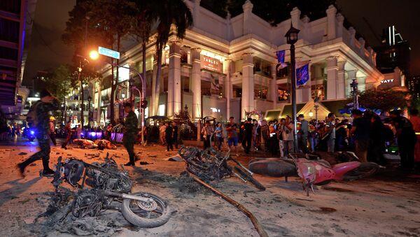 Dopo l'esplosione vicino al santuario Erawan a Bangkok, il 17 agosto, 2015 - Sputnik Italia
