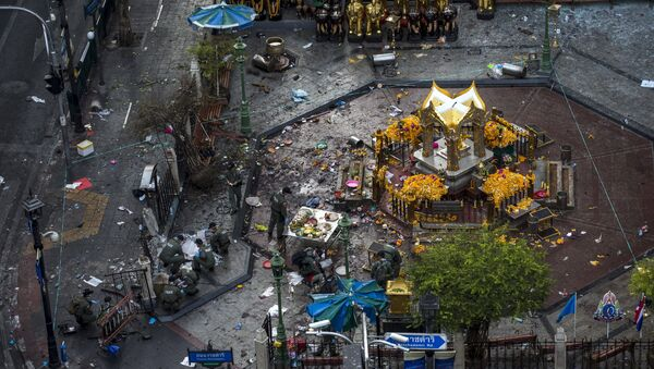 Dopo l'esplosione al centro di Bangkok, Thailandia. - Sputnik Italia