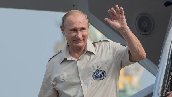 Рабочая поездка президента России Владимира Путина в Крым - Sputnik Italia